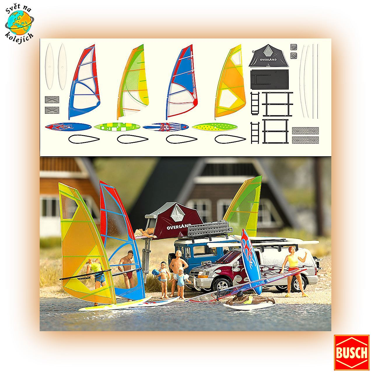 BUSCH 1156 HO -  WINDSURFING SET